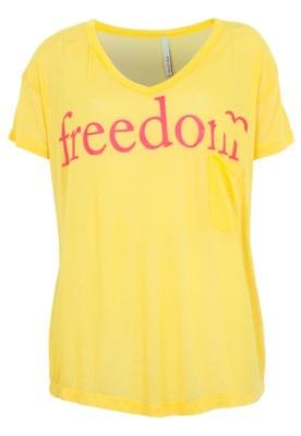 Blusa Coca-Cola Freedom Boy Amarela - Coca Cola Clothing