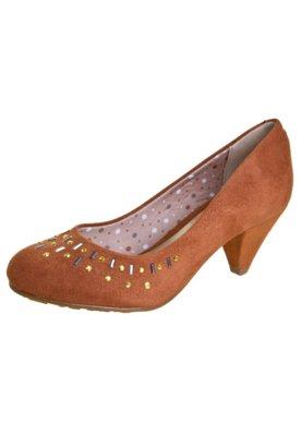 Sapato Scarpin Beira Rio Hotfix Marrom