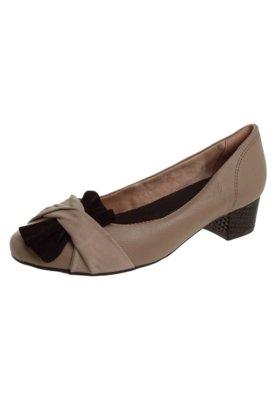 Sapato Scarpin Ramarim Detalhe Marrom