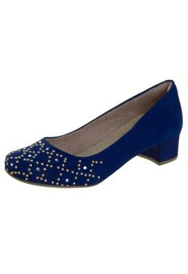 Sapato Scarpin Malu Super Comfort Priscila Azul