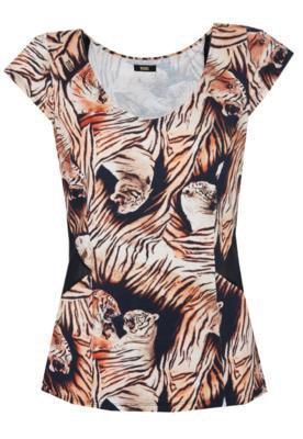 Blusa Justa Tigre Bege - Triton