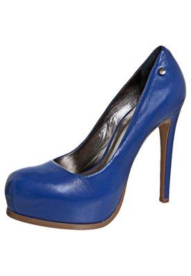 Sapato Scarpin Ellus Meia-Pata Embutida Azul