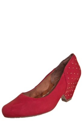 Sapato Scarpin Ramarim Total Comfort Tachas Vermelho