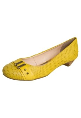 Sapato Scarpin Bottero Saltinho Ferragem Amarelo