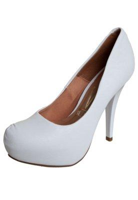 Sapato Scarpin Vizzano Meia-Pata Embutida Branco
