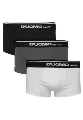 Kit 3 Cuecas Duomo Boxer SPort Preto/Branco/Cinza