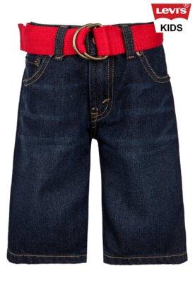 Bermuda Jeans Levis Kids Menino 505 Vermelho