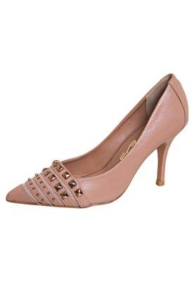 Sapato Scarpin Santa Lolla Tela e Tachas Rosa