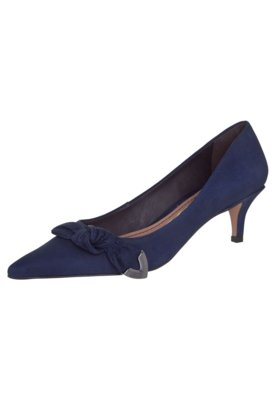 Sapato Scarpin Santa Lolla Nobuck Azul