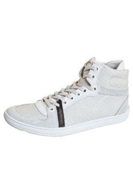 Sapatênis Calvin Klein Jeans Relevo Off-White