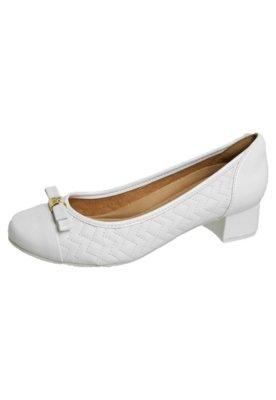 Sapato Scarpin Zenska Saltinho Matelassê Branca