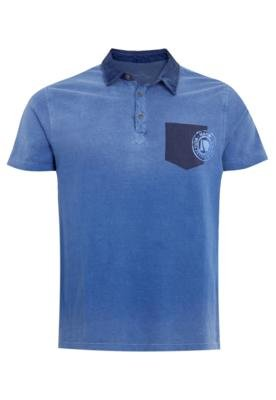 Camisa Polo Mandi Carimbo Azul