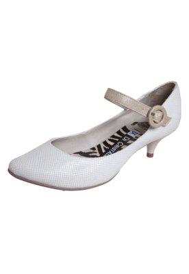 Sapato Scarpin Di Cristalli Salto Baixinho Bico Fino Mary Ja...
