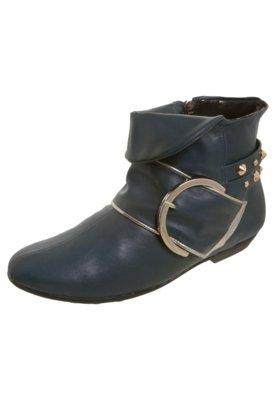 Bota Flat Dobra SPikes Azul - Piccadilly