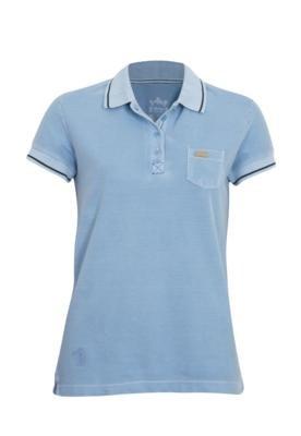 Camisa Polo Aleatory Bolso Azul
