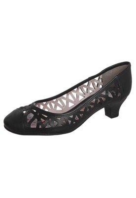 Sapato Scarpin Bottero Vazado Salto Baixo Preto