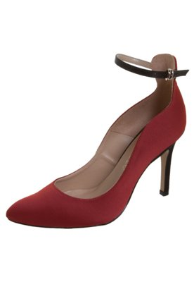 Sapato Scarpin Pulseira Vinho - Cecconello