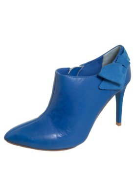 Ankle Boot Laço Lateral Azul - Lilly's Closet