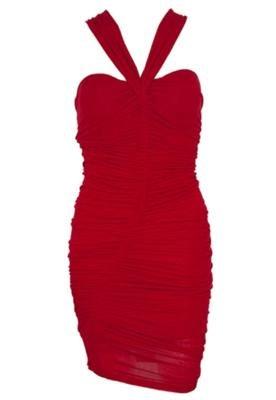 Vestido Justo Triton Rose  Vermelho