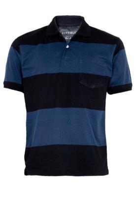Camisa Polo FiveBlu Pocket Listrada
