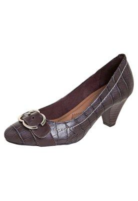 Sapato Scarpin Anna Flynn Casual Rustic Marrom
