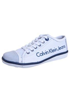 Tênis Calvin Klein Trama Branco