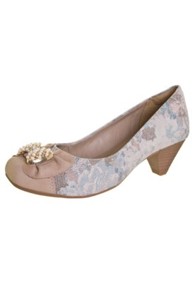 Sapato Scarpin Dakota Laço Strass Multicolorido