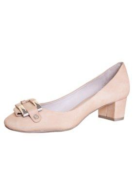 Sapato Scarpin Capodarte Ferragem Salto Baixo Bege