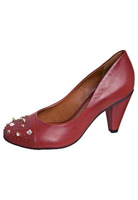 Sapato Scarpin Carrano SPikes Biqueira Vermelho