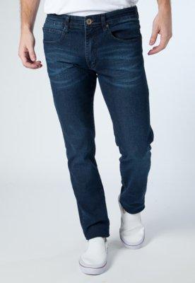 Calça Jeans Reta Pshychobilly Fiji Azul - Cavalera