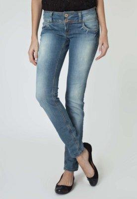 Calça Jeans Colcci Skinny Elle Amassados Azul