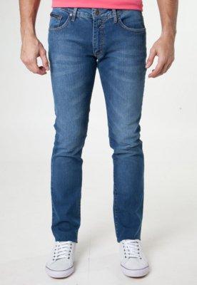 Calça Jeans Calvin Klein Jeans Slim Fit Style Azul