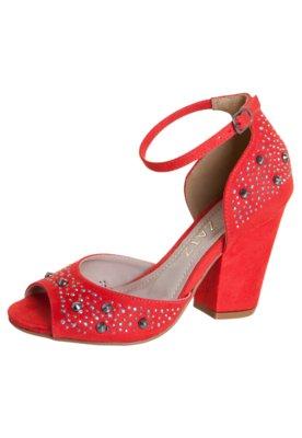 Sandália Glam Beauty Vermelha - Zatz