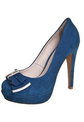 Sapato Scarpin Bottero Laço Detalhe Metal Azul