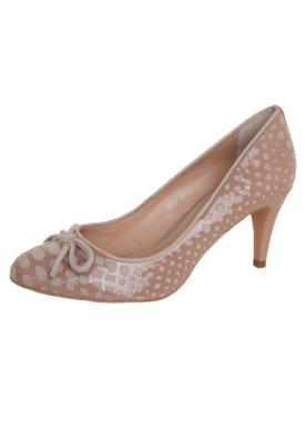 Sapato Scarpin My Shoes Vazado Verniz Nude