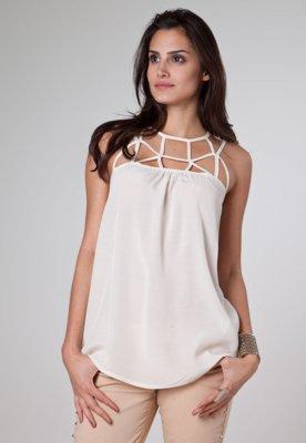 Blusa Colcci Comfort Elegance Bege