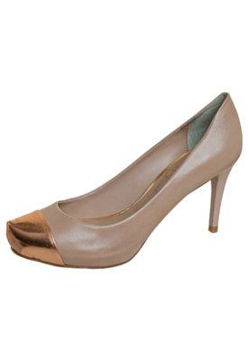 Sapato Scarpin Cap Toe Nude - Lilly's Closet