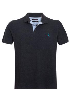 Camisa Polo Reserva Bordado Cinza