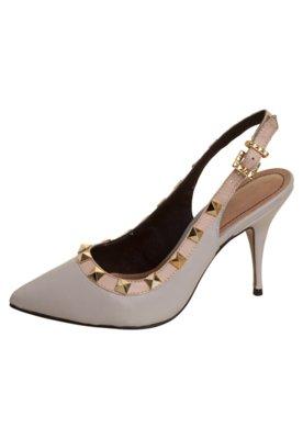 Sapato Scarpin Santa Lolla Chanel Debrum Pirâmides Nude