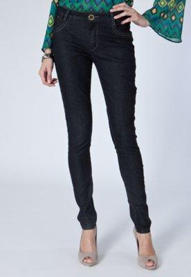 Calça Jeans Skinny Chaveiro Preta - Lança Perfume