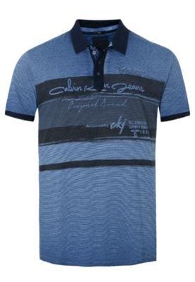 Camisa Polo Calvin Klein City Azul - Calvin Klein Jeans