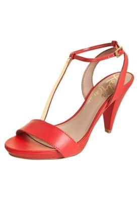 Sandália Lilly's Closet Meia Pata Salto Médio Vermelha