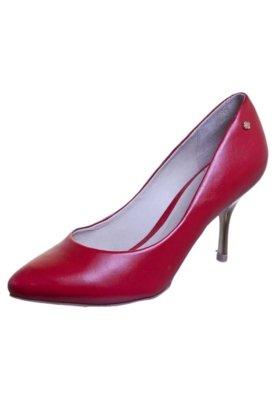 Sapato Scarpin Básico Salto Metalizado Vermelho - Capodarte