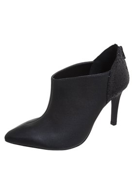 Ankle Boot Glitter Preta - Anna Flynn
