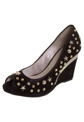 Peep Toe Pink Connection SPikes Preto