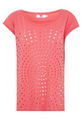 Blusa Pink Connection Furos Laranja