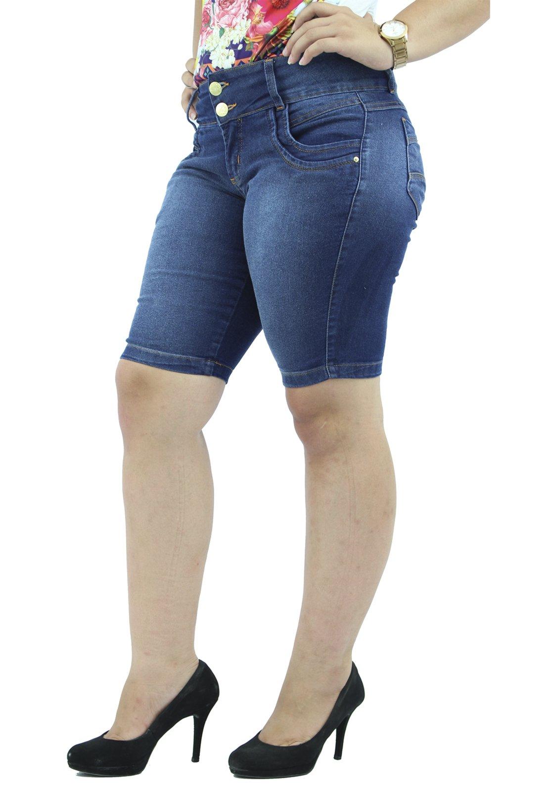 Bermuda   Média Jeans Anagrom Azul Destroyer - Marca Anagrom