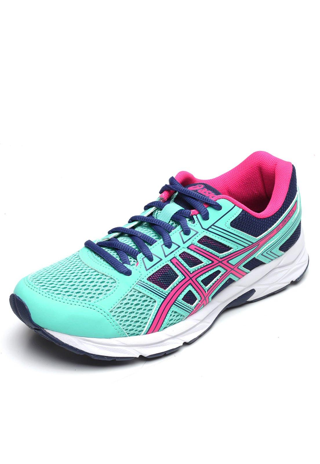 tenis asics feminino roxo e rosa 30