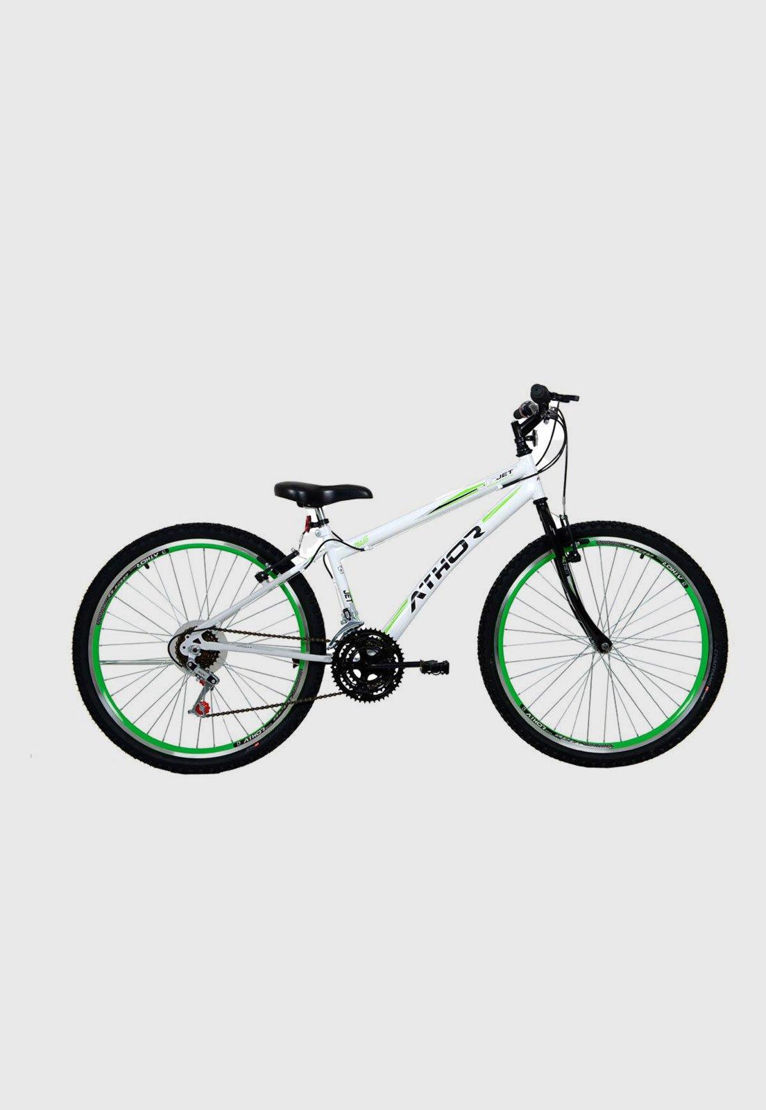Bicicleta Athor Bike Jet Aro 26 Rígida 18 Marchas - Branco/verde