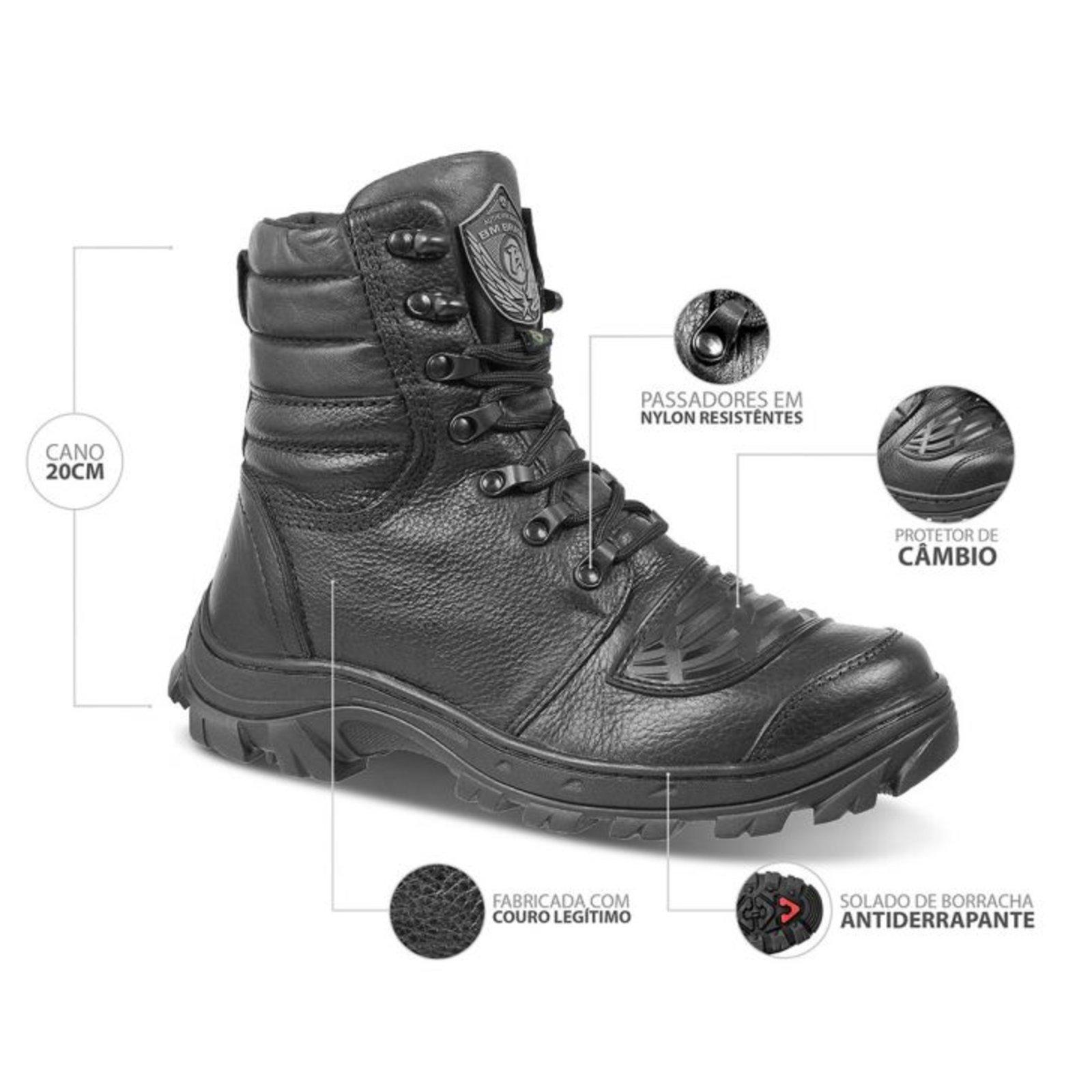 Coturno Bmbrasil Defender 5167/01 Preto - Compre Agora